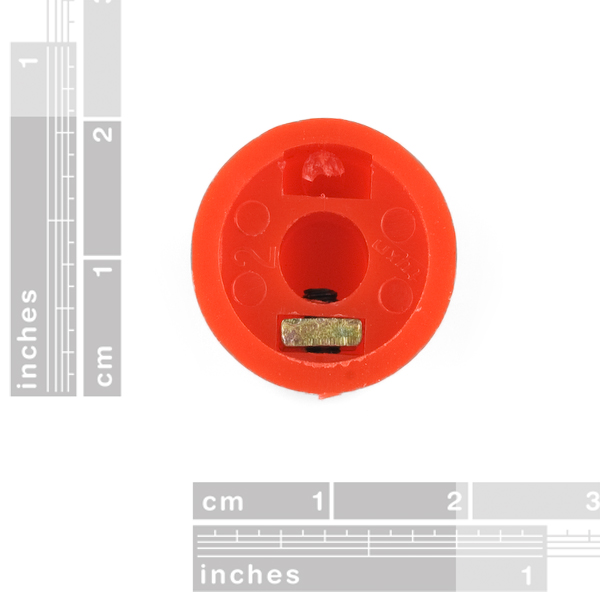 Red Knob - 15x19mm