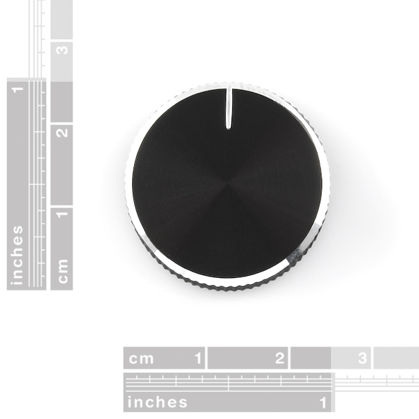 Black Metal Knob - 14x24mm
