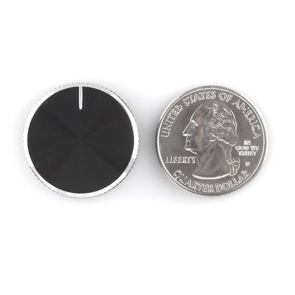Black Metal Knob - 14x24mm
