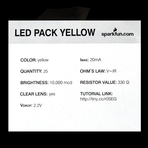 LED - Super Bright Yellow (25 pack)