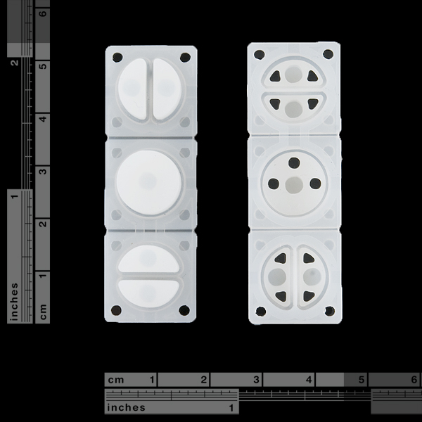 Mini Button Pad Set - White - Defects!