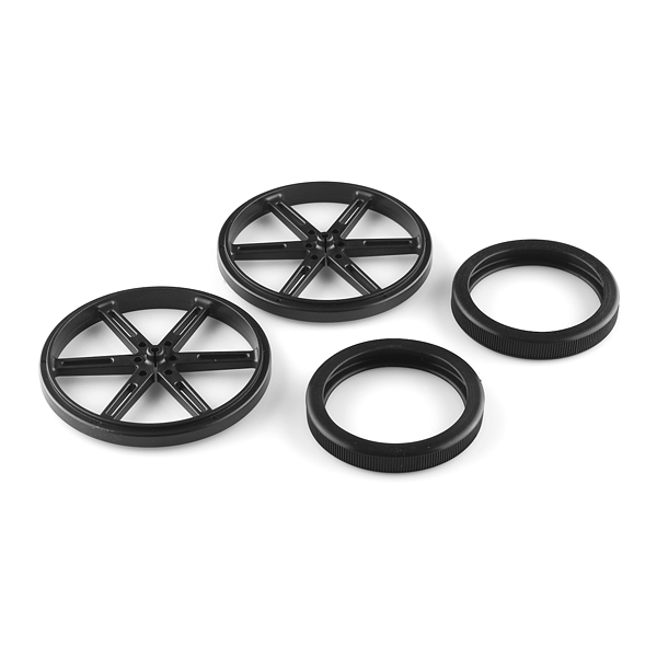 Wheel 90x10mm Pair - Black
