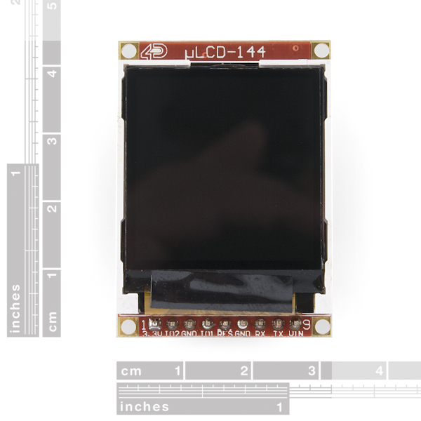 "Serial Miniature LCD Module - 1.44"" (uLCD-144GFX)"