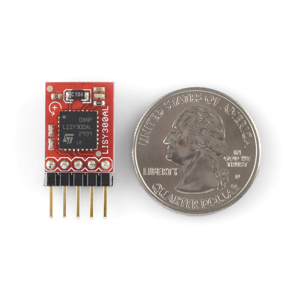 Gyro Breakout Board - LISY300AL 300°/s Right Angle