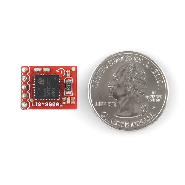 Gyro Breakout Board - LISY300AL 300°/s  Straight (Sale)