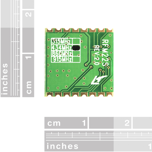 RFM22B-S2 SMD Wireless Transceiver - 434MHz