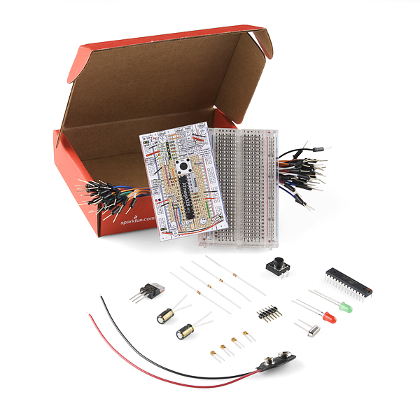 Breadboard Arduino Compatible Parts Kit (Old-School)