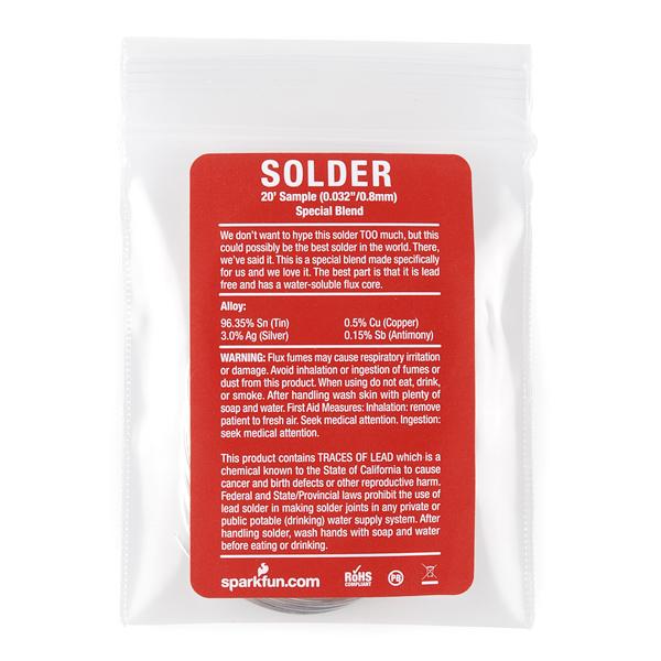 """Solder - 20' Sample (0.032"""") Special Blend"""