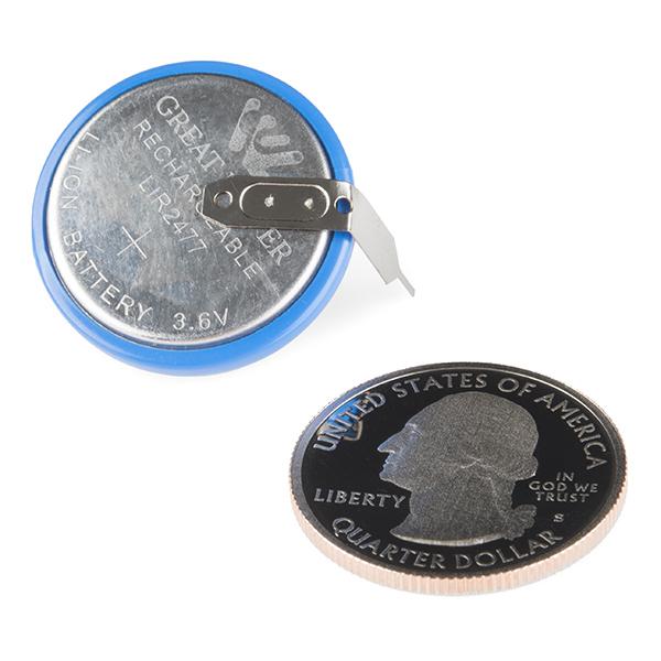 Coin Cell Battery - 24.5mm (PTH LIR2477)
