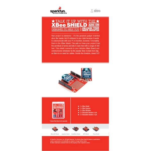 Retail Sales Sheet - XBee Kit