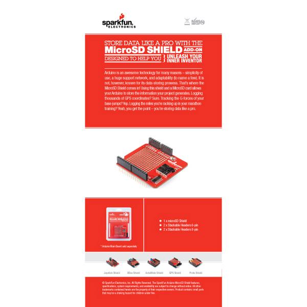 Retail Sales Sheet - microSD Shield