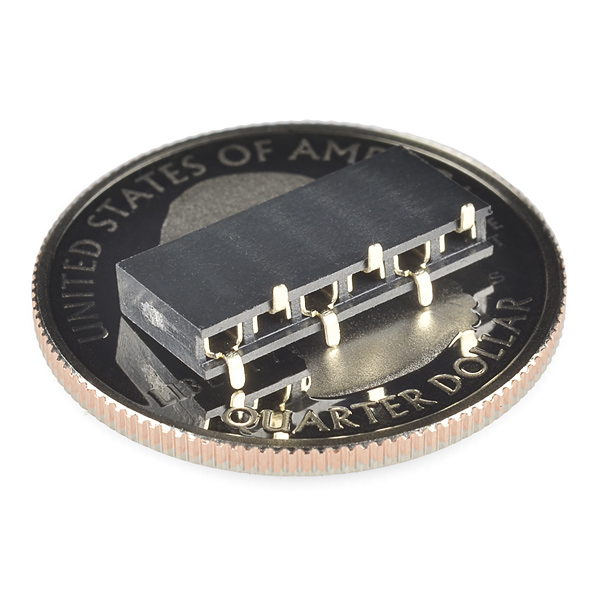Header - 6-pin Female (SMD, 0 1