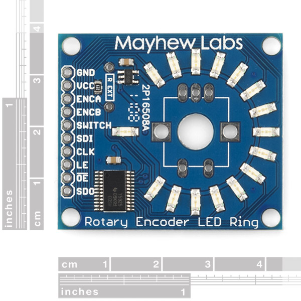 Rotary Encoder LED Ring Breakout Board - Green