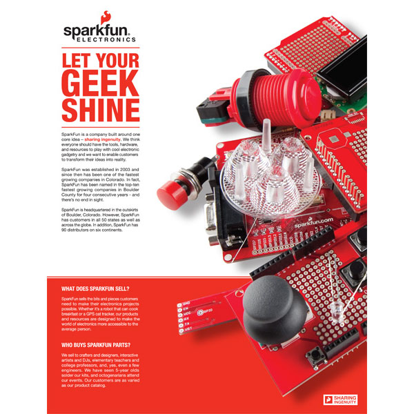 Retail Brand Sheet - Who is SparkFun?