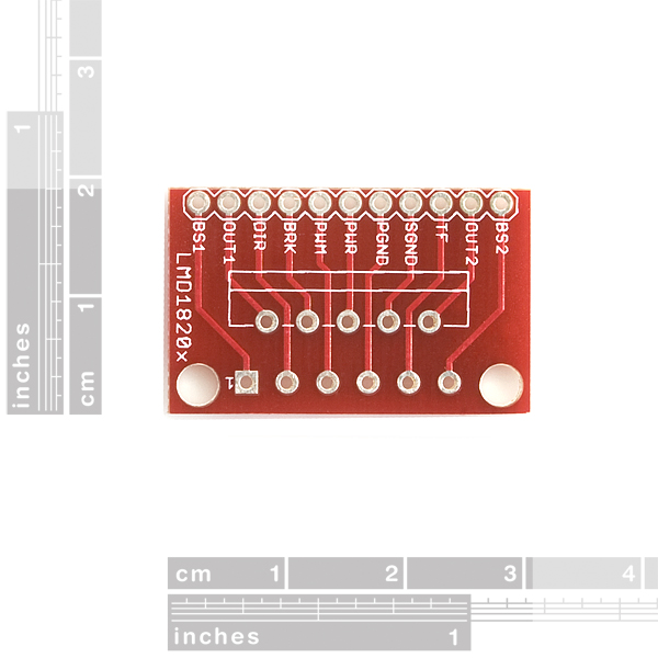 SparkFun LMD1820x H-Bridge Breakout