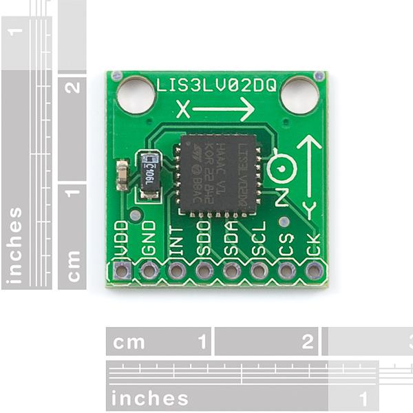 Triple Axis Accelerometer Breakout - LIS3LV02DQ