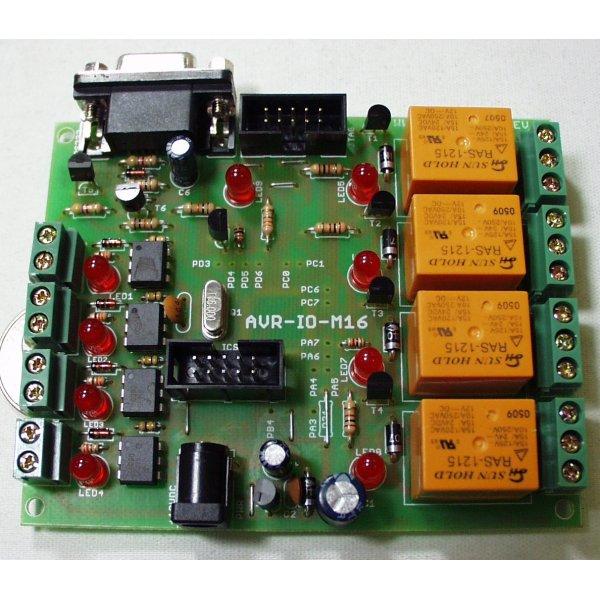 Relay Development Board for ATMega16