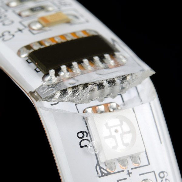 RGB LED Strip - 32 LED/m Addressable - Ding and Dent