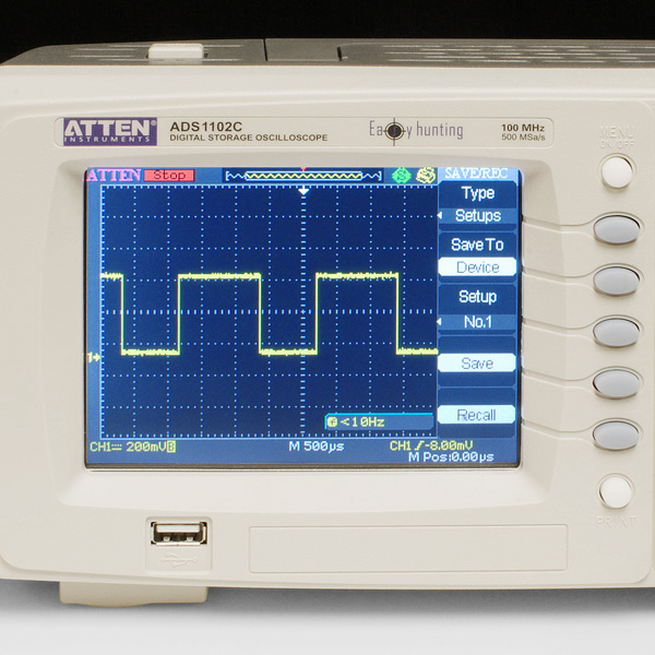 100MHz Digital Storage Oscilloscope - ADS1102C