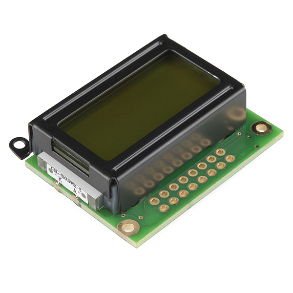 Basic 8x2 Character LCD - Black on Green 5V