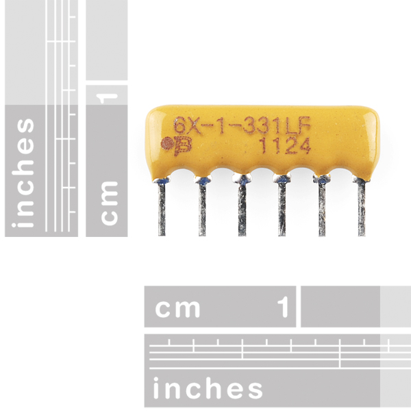 Resistor Network - 330 Ohm (6-pin bussed)