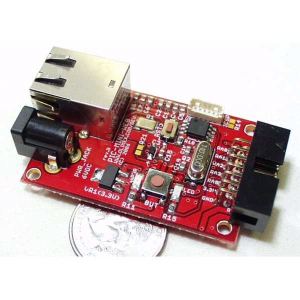 Ethernet Mini-Web PIC Development Board