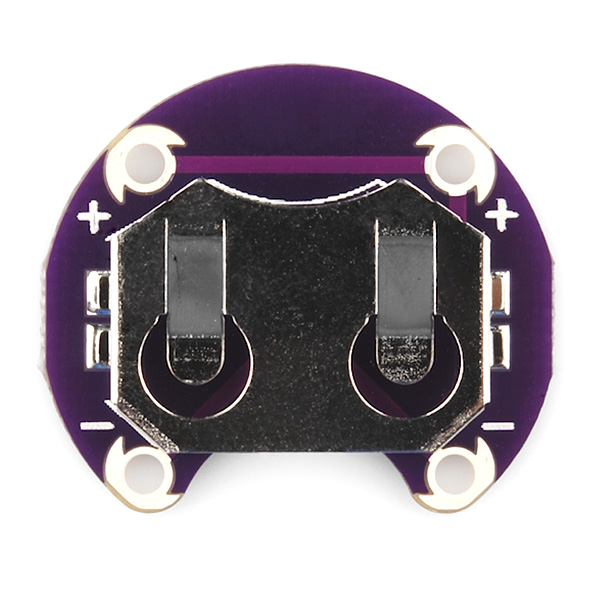 LilyPad Coin Cell Battery Holder - Reverse Silkscreen