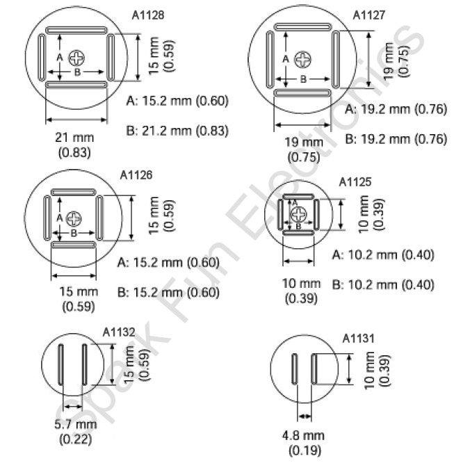 Hot-air Rework Nozzles - Y1127