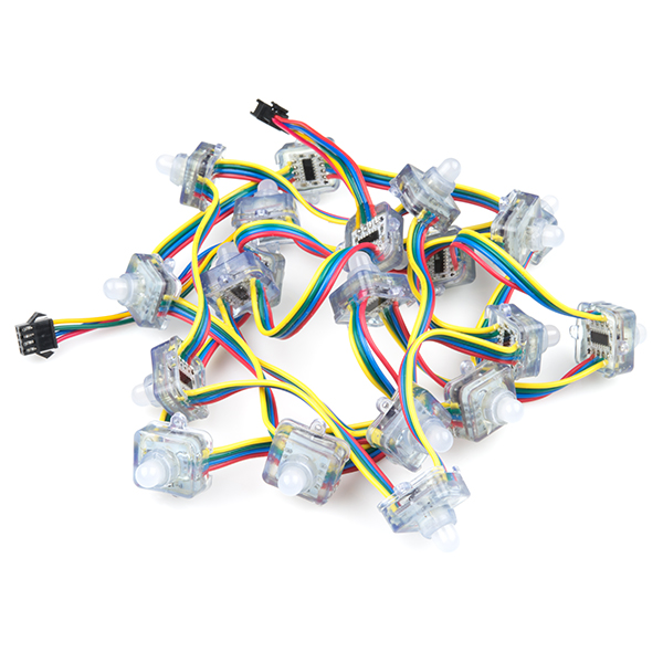Remarkable Rgb Led Chain 20 Led Addressable Com 11020 Sparkfun Electronics Geral Blikvitt Wiring Digital Resources Geralblikvittorg