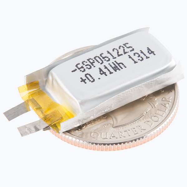 Polymer Lithium Ion Battery - 110mAh (Solder Tabs)