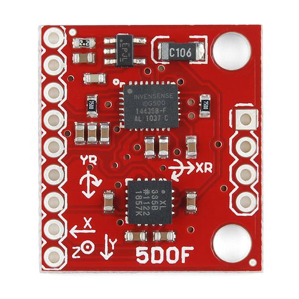 IMU Analog Combo Board - 5 Degrees of Freedom IDG500/ADXL335