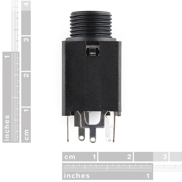 "Audio Jack - 1/4"" Stereo (vertical)"