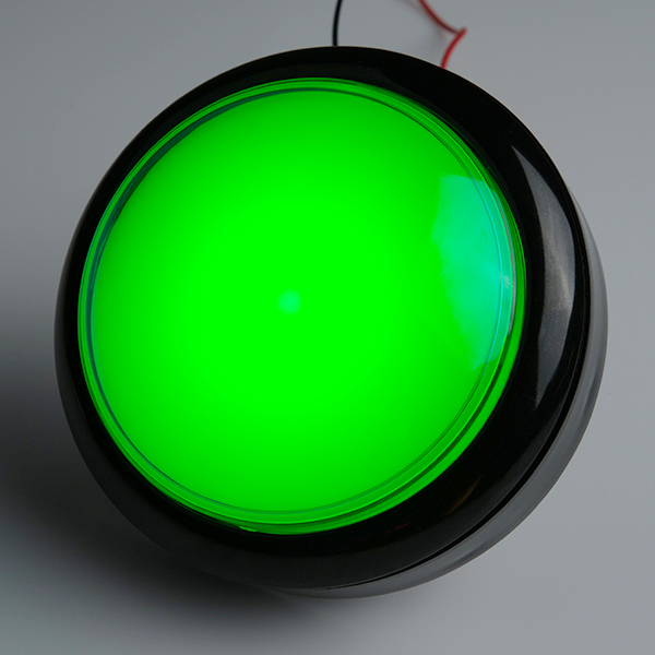 Big Dome Pushbutton - Green