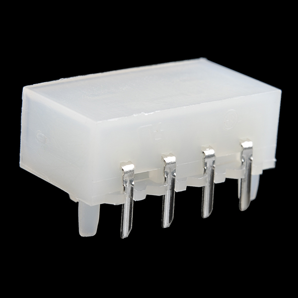 4 Pin Molex Connector - Right Angle