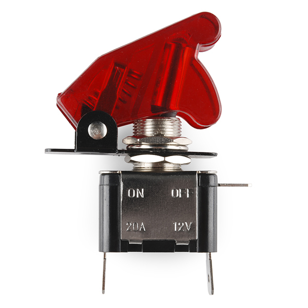 Hook up illuminated toggle switch
