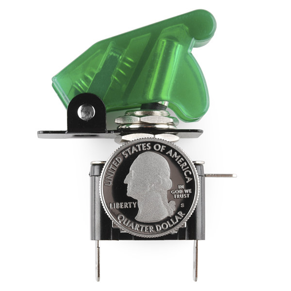 Toggle Switch and Cover - Illuminated (Green)