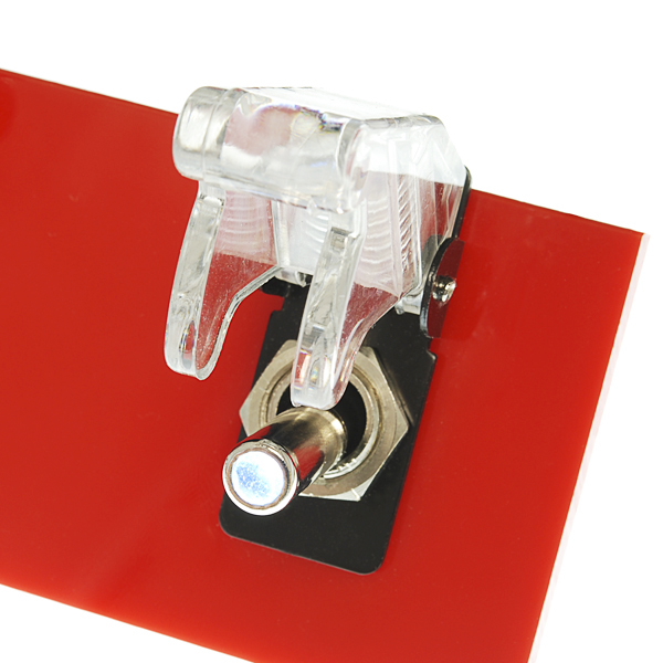 Toggle Switch and Cover - Illuminated (White)