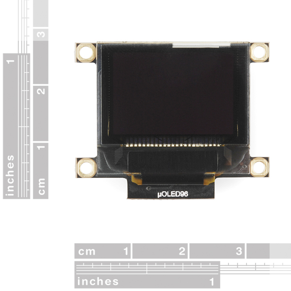 "Serial Miniature OLED Module - 0.96"" (uOLED-96-G2 GFX)"