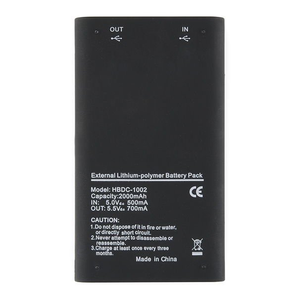 USB Battery Pack - 1800 mAh