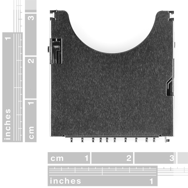 SD/MMC Socket for Secure Digital Disk or Multi Media Cards