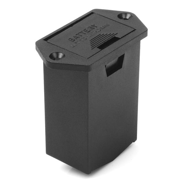 battery holder 9v drawer panel mount prt 11368 sparkfun