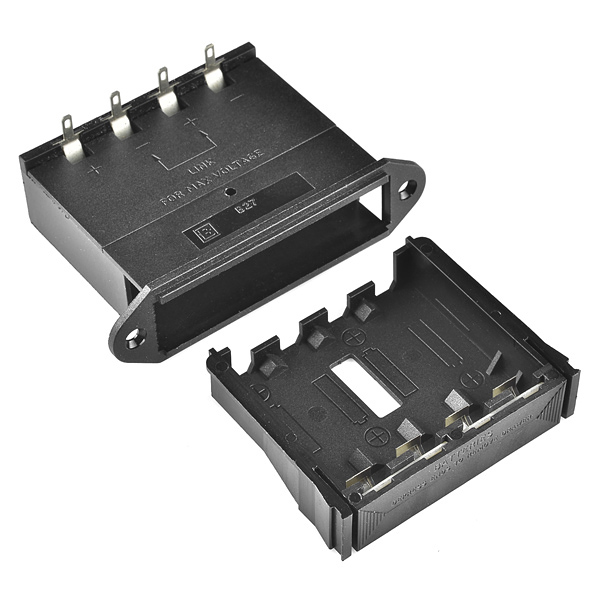 Battery Holder - 4xAA Drawer (Panel Mount)