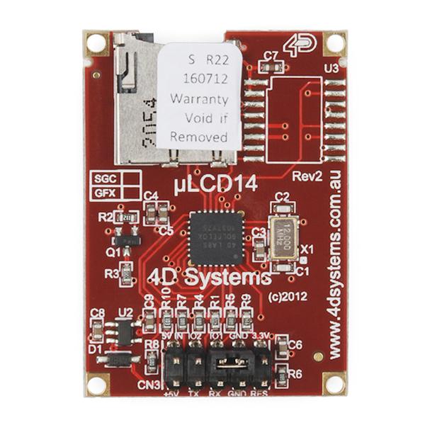 "Serial Miniature LCD Module - 1.44"" (uLCD-144-G2 GFX)"