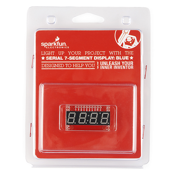 Serial 7-Segment Display (Blue) - Retail