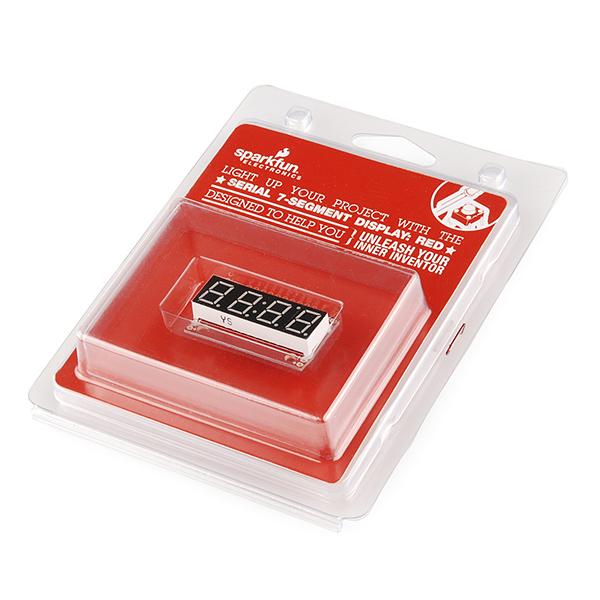 Serial 7-Segment Display (Red) - Retail