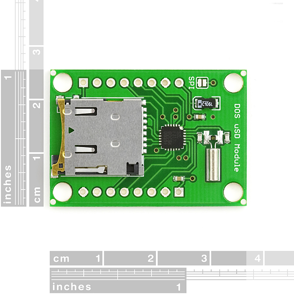 Breakout Board for DOSonCHIP FAT16 FAT32 uSD Module