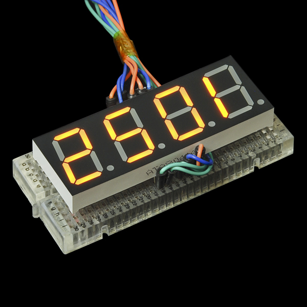 7-Segment Display - 20mm (Yellow)