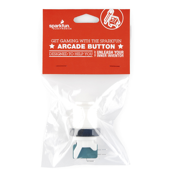 White Arcade Button Retail