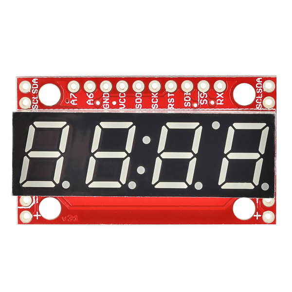 SparkFun 7-Segment Serial Display - Kelly Green