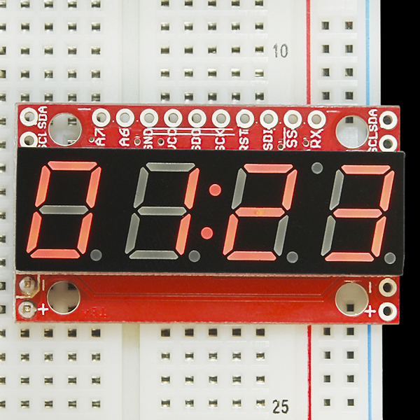 SparkFun 7-Segment Serial Display - Red - COM-11441 - SparkFun ... on
